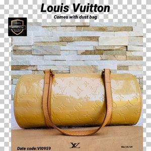 Louis Vuitton handbag vernis Bedford yellow